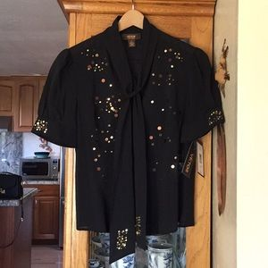 Victor Alfaro 94% silk shirt with embellishments
